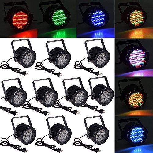 10pcs 86 RGB Stage Lights DJ Lighting Par DMX-512 Laser LED Party Club Light New…
