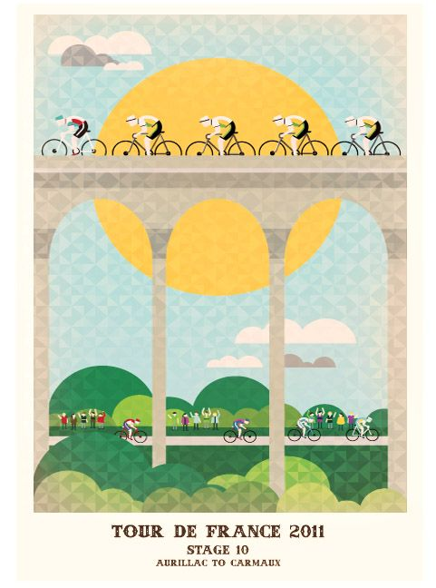 Amazing work for one of my favorite events: The Tour de France.