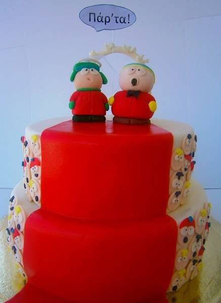 South park wedding cake