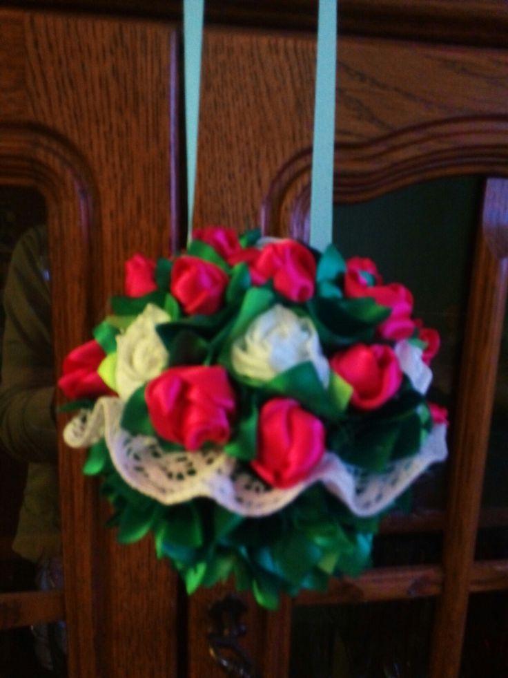 Růže  ze stuh