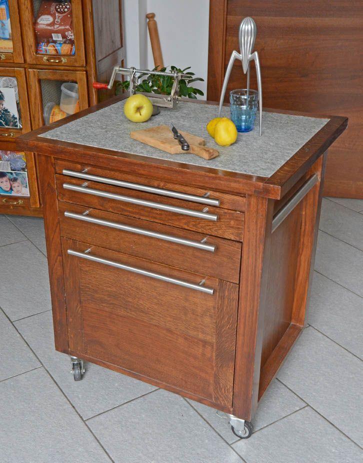 Carrello attrezzato per cucina Dimensioni: Larghezza cm 74 ...
