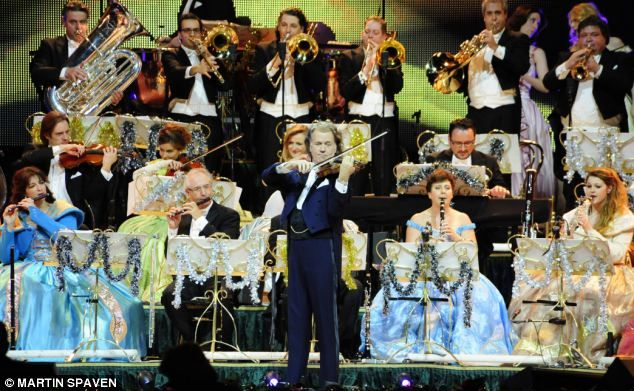 The violinist, conductor and composer with his Johann Strauss Orchestra on one of his 120 date tours at the o2 aren