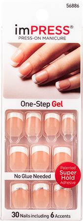 imPRESS Press-on Manicure French Gel Accent Nails at Home - Rock It
