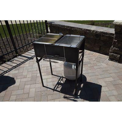 Three Basket Outdoor Propane Deep Fryer
