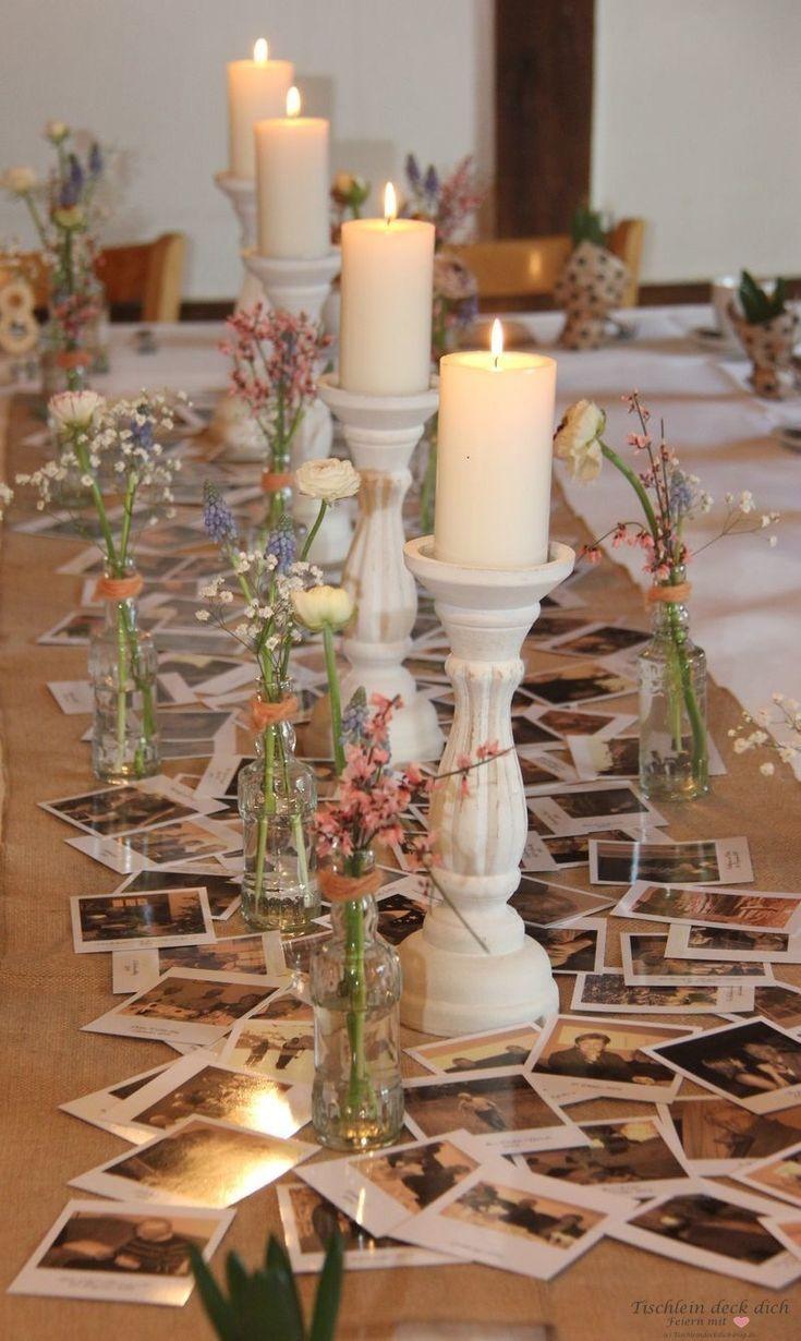 Tischdekoration Zum 80 Geburtstag Perfekt Mit Sendmoments