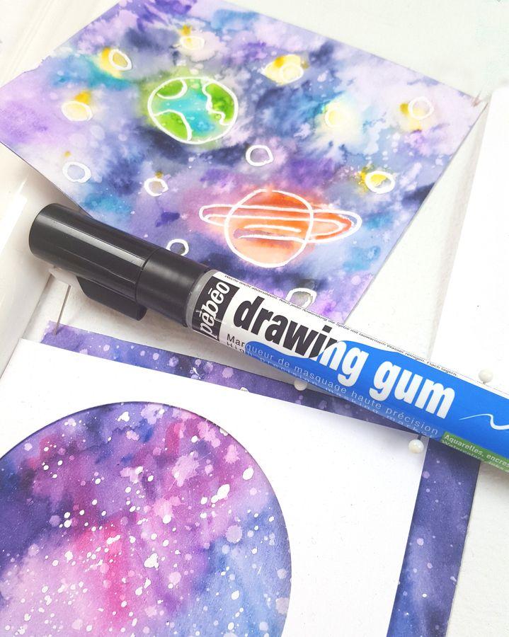 Drawing Gum Marker De Pebeo Dessiner Avec Un Feutre De Masquage
