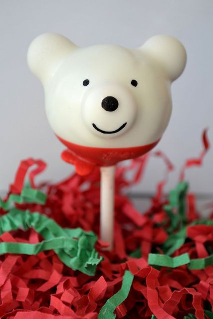 Polar Bear Cake Pop (inspired by Bakerella) by CakePopsByKiki, via Flickr