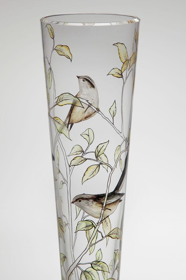 Hand-painted vase TWEET by Jan Janecký
