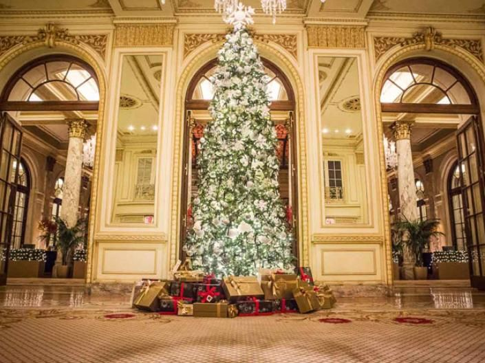 Saks Fifth Avenue collaborated with the famed Plaza Hotel in New York City on the hotel's tree this year.
