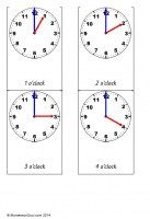 Analogue clock cards (O