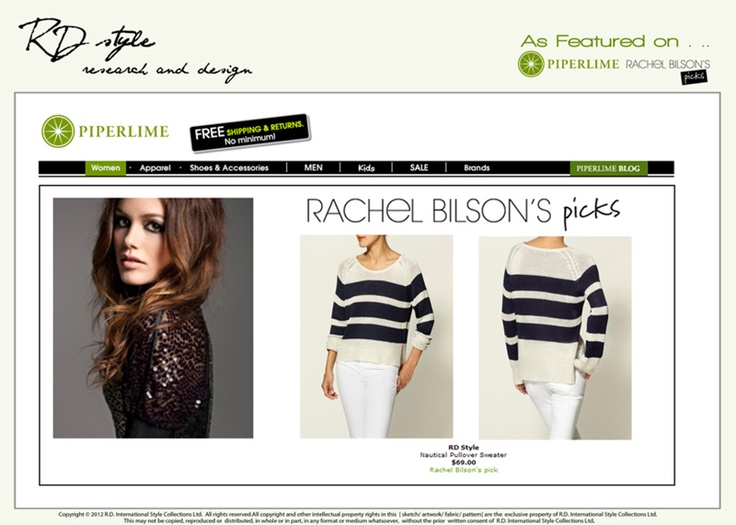 RD Style Featured in Piperlime 2012