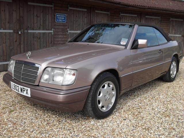 "Mercedes-Benz E320 Cabriolet in ""Rosewood"" metallic."