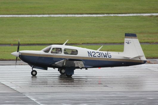 """Picture of Maggie, the Mooney, taken by a planespotter in Nagoya/Japan. Around the world in 80 days with a small airplane. Book of Johannes Burges: """"360 Grad westwärts - Im Propellerflugzeug in 80 Tagen um die Welt"""" http://360grad.burges.de/planespotter"""