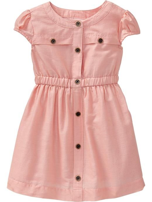 Button-Front Dobby Dresses for Baby Product Image