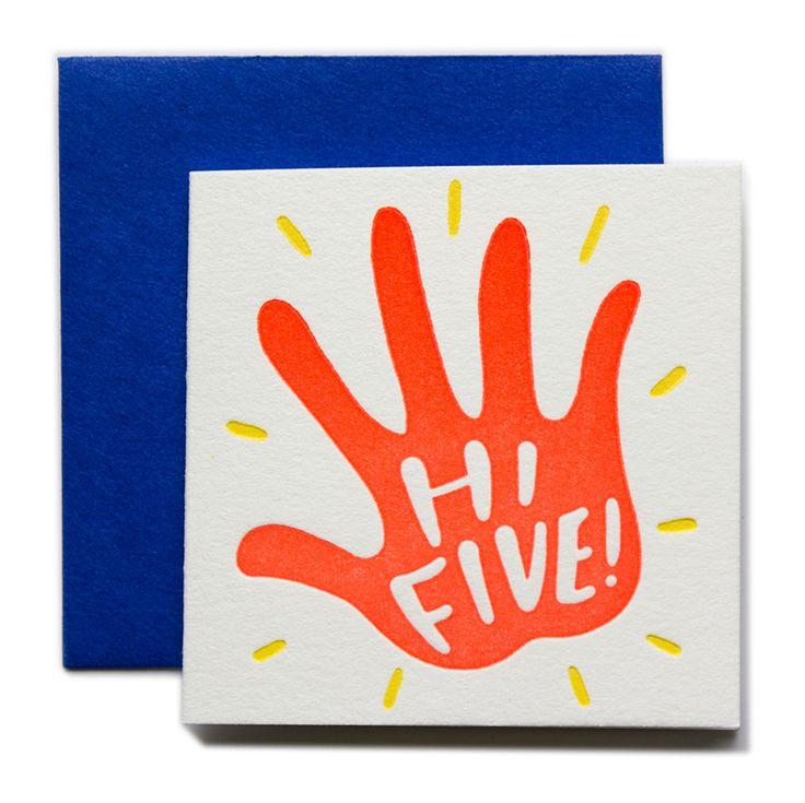 Hi Five Tiny Card | Ladyfingers Letterpress