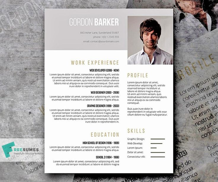 25+ Modern And Wonderful PSD Resume Templates Free Download :http://www  Resume Template Psd
