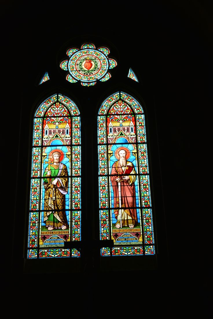 Glas in lood (stained glass) Church (Kerk) Guéret, Frankrijk (France)