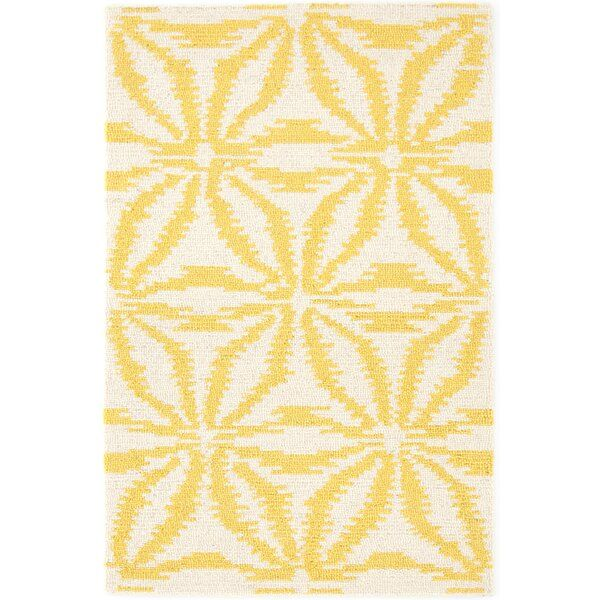 Aster Ikat Looped Wool Gold Area Rug Dash And Albert Rugs Dash And Albert Area Rugs