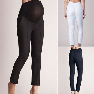 3781443fe18c9 Women high Waist Pregnant Pants Maternity Clothes Ladies Office Long  Trousers