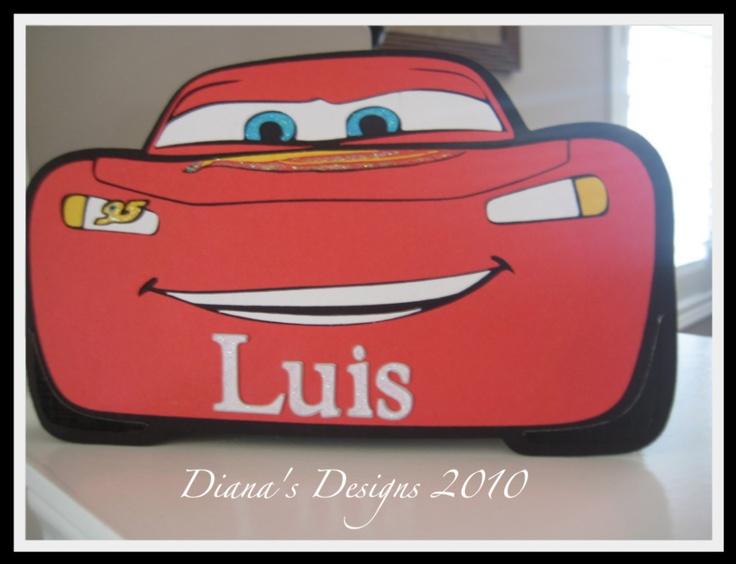 20 best Cricut Cars Disney images – Lightning Mcqueen Birthday Card