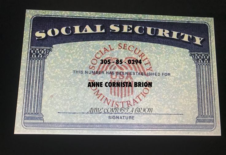 Pin by nick cowherd on social security card social