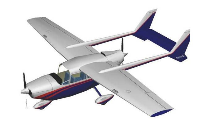 Cessna Skymaster Model 336 Free Aircraft Paper Model Download - http://www.papercraftsquare.com/cessna-skymaster-model-336-free-aircraft-paper-model-download.html#124, #AircraftPaperModel, #Cessna, #CessnaSkymaster, #Skymaster
