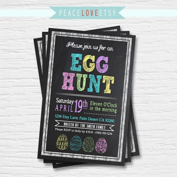 Hey, I found this really awesome Etsy listing at https://www.etsy.com/listing/183027640/easter-egg-hunt-invitation-chalkboard