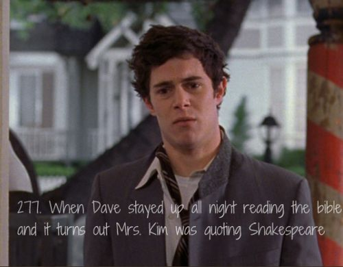 Gilmore Girls. I love Dave! He and Lane were so cute together! He was so sweet trying to win Mrs. Kim over