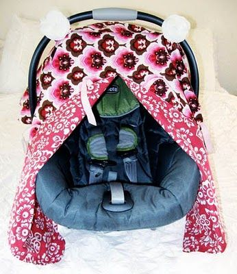 I want to make one of these .: Carseat Covers, Car Seats, Cars Seats Canopies, Cars Seats Covers, Sewing Projects, Peek A Boo Tutorials, Carseat Canopies Tutorials, Closet Crafter, Patterns Instructions