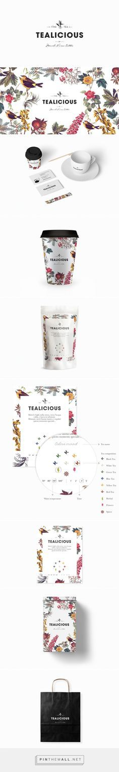 Tealicious merchandise and take-out supplies are framed around a luscious botanical garden.
