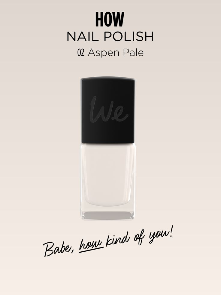 HOW | Nail Polish in Aspen Pale  Discover more on http://wemakeup.it/#HOW_nail_polish