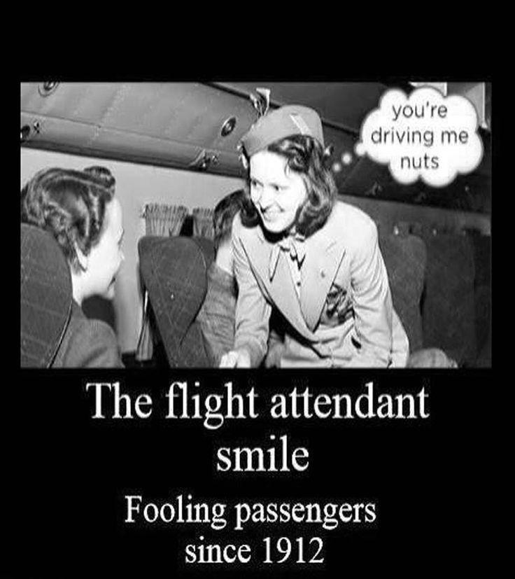 Flight attendant humor