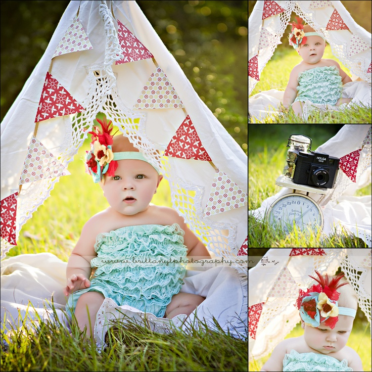 birthday photography - tent and bunting