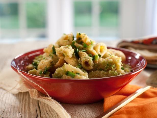 Get Pork Cracklings with Green Salsa (Chicharrones en Salsa Verde) Recipe from Food Network