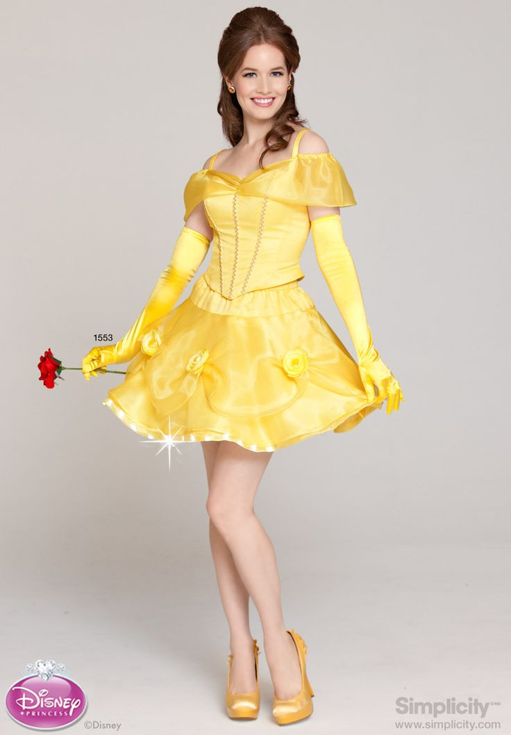 Flirty #Disney Princess Belle Costume with LED Fairy Lights Wire Trim #SimplicityPatterns