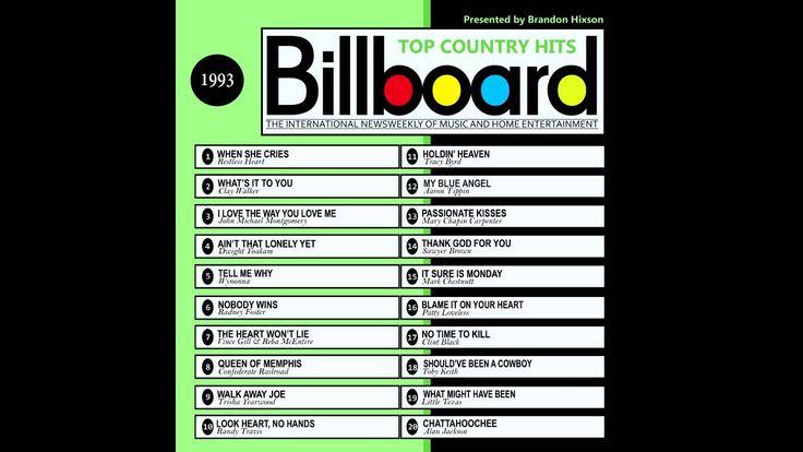 Billboard Top Country Hits 1993 (2016 Full Album)