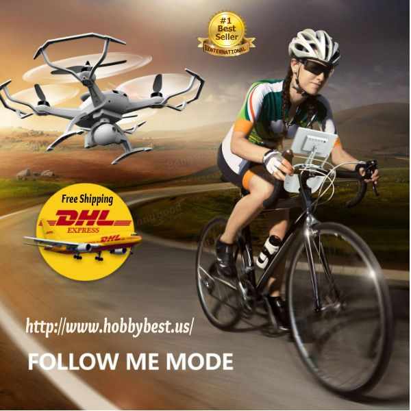 UAV Drone Auto-Follow RC Quadcopter Rtf With Camera Double GPS    UAV Drone Auto-Follow RC Quadcopter version, equipped with 5.8G FPV system, offers you awesome flying experience! With Follow Me Mode, Point of Interest and the camera stabilizer, ...