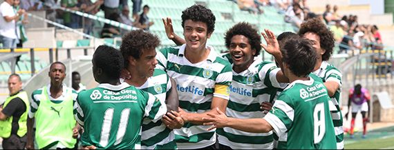 This team is still running for the Juvenis Championship. They celebrate their victory 2-0 against benfica yesterday 10/Jun/2014, Day of Portugal Holiday. One more victory in the remaining match, against Guimarães SC, will grant them the title. GO LIONS!