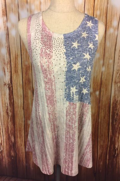Sparkle American Flag Tank TOp with rhinestones  AMericana, 4th of July, Memorial Day, Labor Day, Lake looks  www.laneyluscom  Laney Lu's Boutique