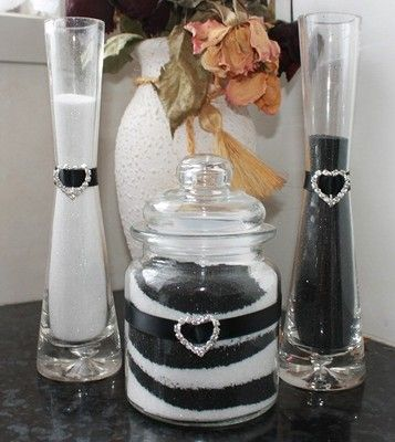 Complete wedding sand ceremony kit set *colours table centerpiece decorations on eBay!