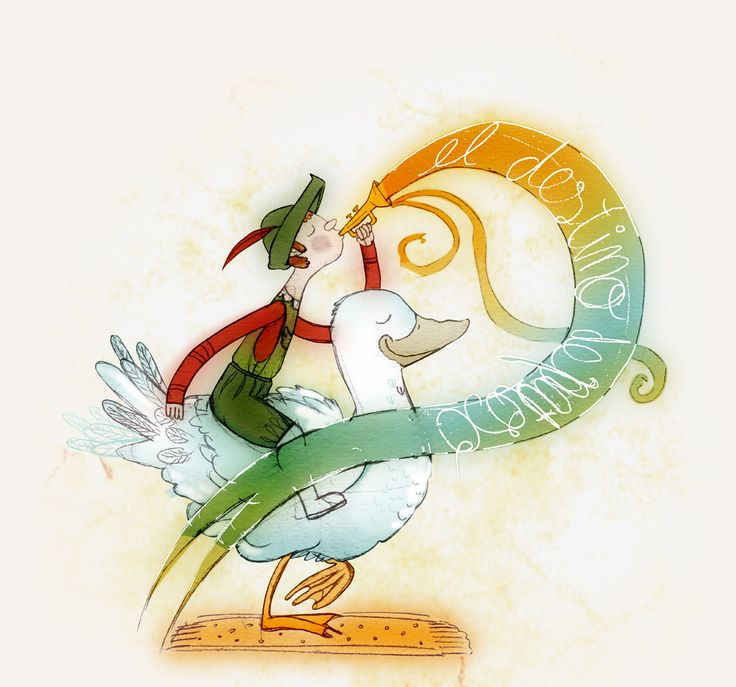 """Detalle Ilustración cuento """"El destino de Patoso"""" de Juan Pizarro Nogués.  Ilustración creada por Estela Labajo Duque"""