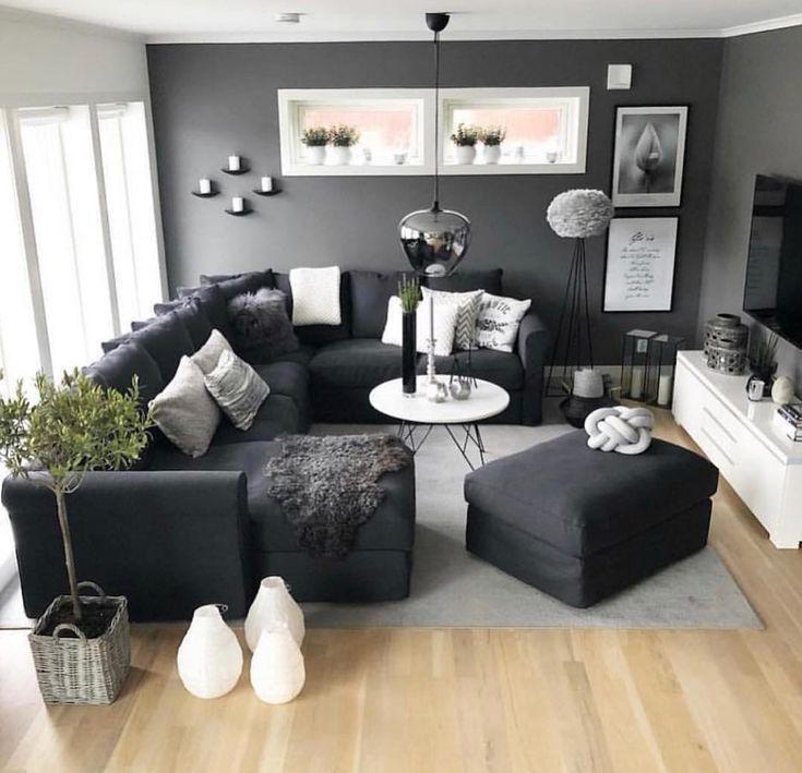 Dunkle Farben des Punktes – Interior Design Wohnzimmer i … #design #dunkle #farben #interior #punktes