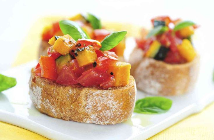 Bruschetta - With Pumpkin, Tomato