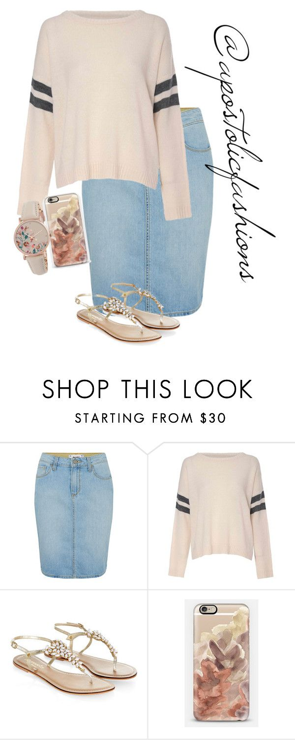 """Apostolic Fashions #1387"" by apostolicfashions on Polyvore featuring Paige Denim, Glamorous, Monsoon, Casetify and Radley"