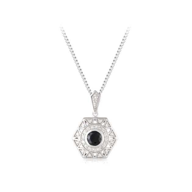 9ct White Gold Sapphire Pendant | Wallace Bishop Jewellers