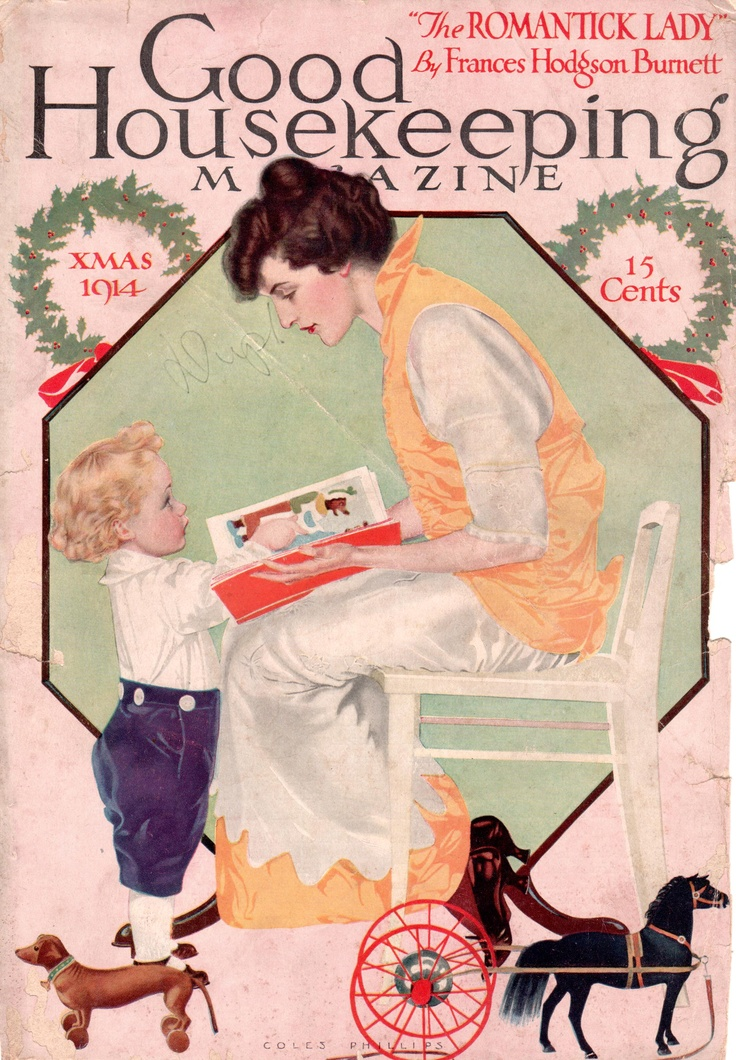 Coles Phillips - Good Housekeeping Magazine cover (Xmas 1914)