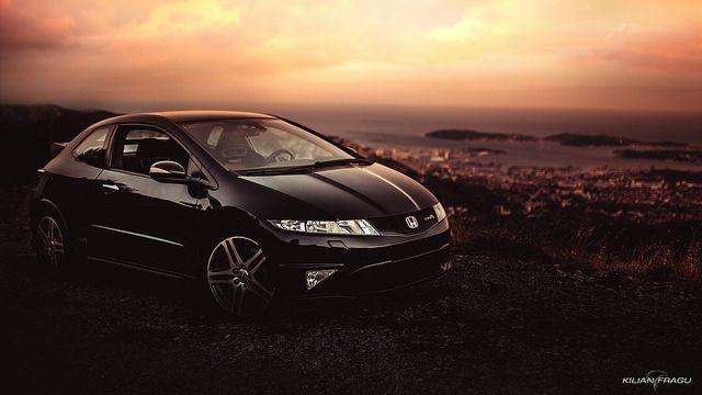 Honda Civic FN2 Type R at Sunset