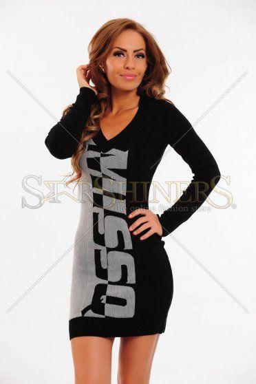 Rochie MissQ Arctic Treasure Black