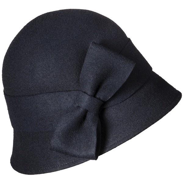 Merona® Oversized Bow Felt Cloche Hat - Black ($17) found on Polyvore
