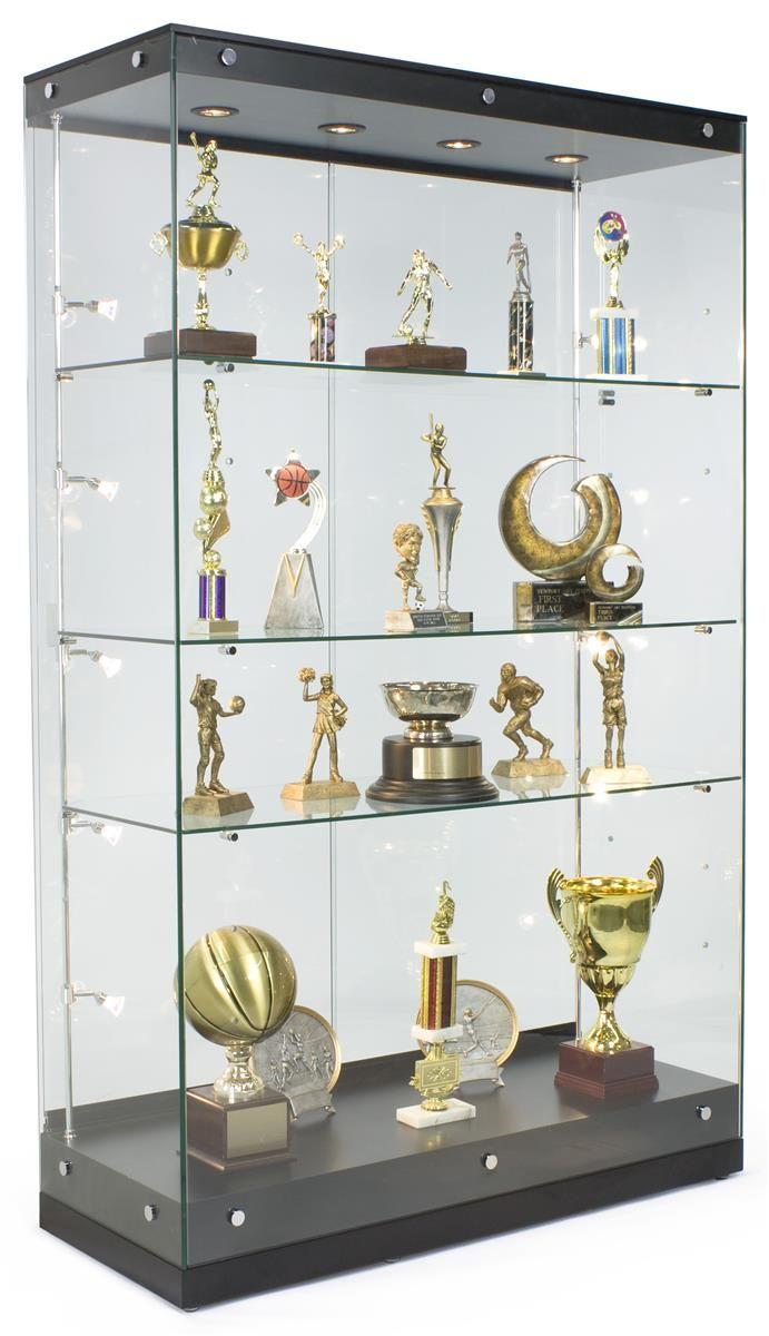 """48"""" Trophy Display Case W/Frameless Design, Adjustable"""